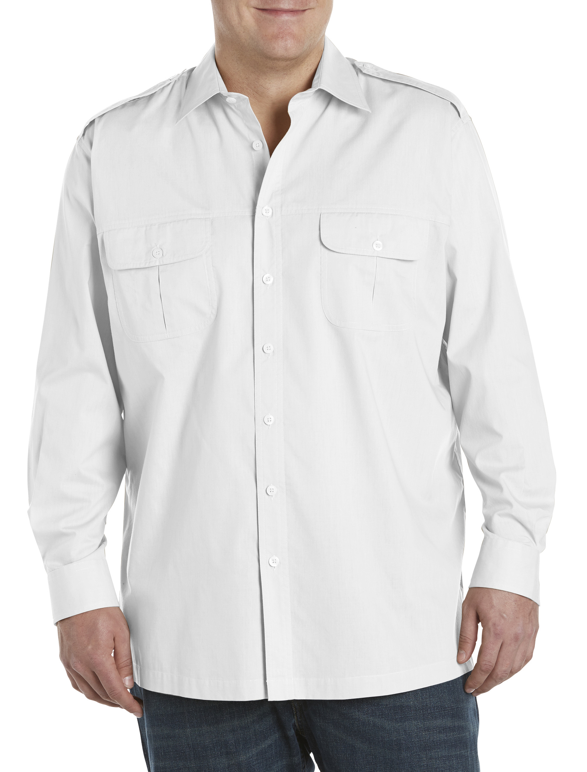 Harbor bay long sleeve pilot sport shirt casual male xl for Big and tall long sleeve shirts