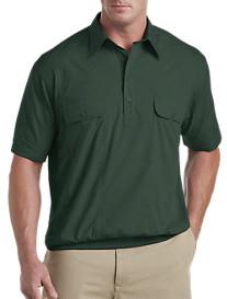 Harbor Bay® Short-Sleeve Mesh Panel Banded-Bottom Shirt