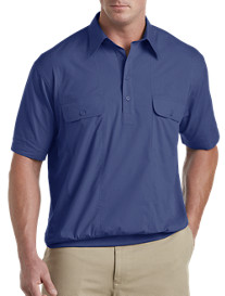 Harbor Bay® Short-Sleeve Mesh Panel Banded-Bottom Shirt