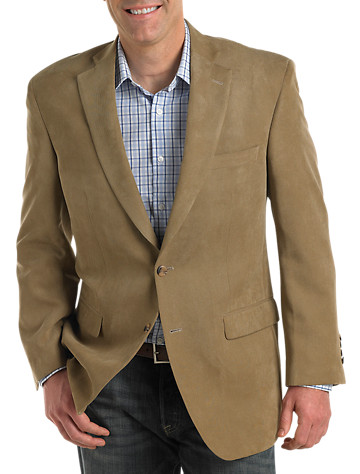 Jean-Paul Germain Microfiber Suede-Touch Blazer – Executive Cut