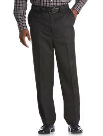 Oak Hill® Waist-Relaxer® Flat-Front Microfiber Pants