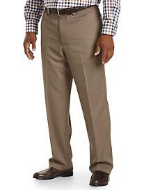 Oak Hill® Flat-Front Microfiber Pants