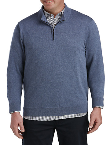 Big & Tall Harbor Bay® Quarter-Zip Pullover Sweater 97234