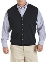 Oak Hill® Button-Front Sweater Vest