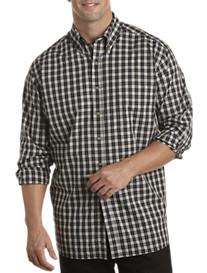 Harbor Bay® Long-Sleeve Easy-Care Plaid Sport Shirt