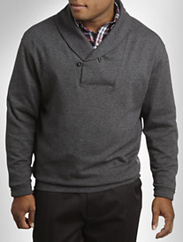 Oak Hill® Birdseye Shawl-Collar Pullover