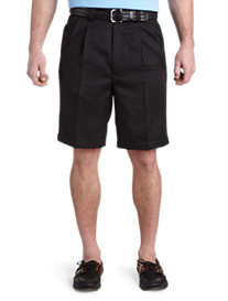 Oak Hill® Pleated Microfiber Shorts
