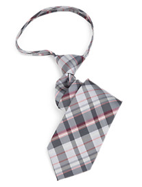 Gold Series Plaid Zipper Tie