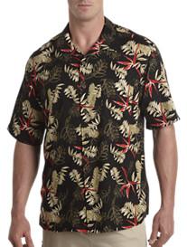 Island Passport® Short-Sleeve Floral Camp Shirt