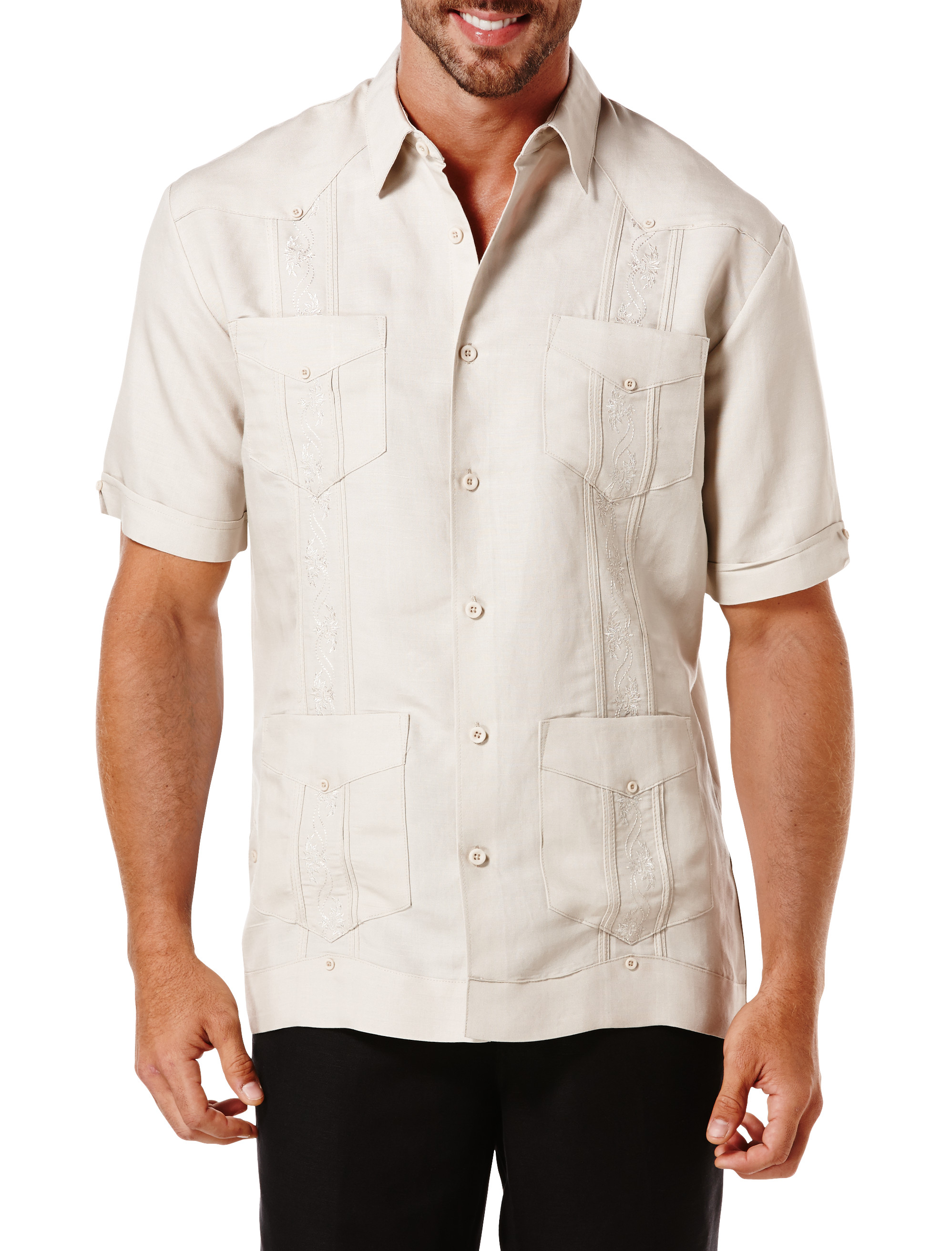 cubavera guayabera shirt casual male xl big tall ebay ForBig And Tall Casual Shirts