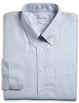 Enro® Long-Sleeve Pinpoint Tattersall Dress Shirt