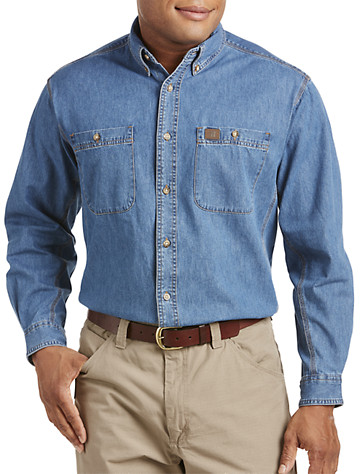 Riggs Workwear™ by Wrangler® Denim Work Shirt - Available in antique