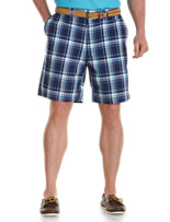 Harbor Bay® Waist-Relaxer® Flat-Front Plaid Shorts