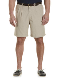 Harbor Bay® Waist-Relaxer® Pleated Plaid Shorts