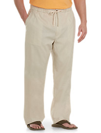 Island Passport® Linen-Blend Drawstring Pants