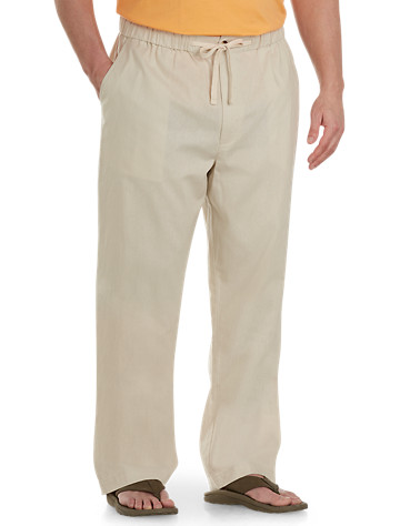 Island Passport® Linen-Blend Drawstring Pants - $59.5