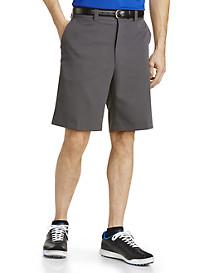 Oak Hill® Flat-Front Waist-Relaxer® Microfiber Shorts
