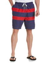 Harbor Bay® Wide-Stripe Swim Trunks
