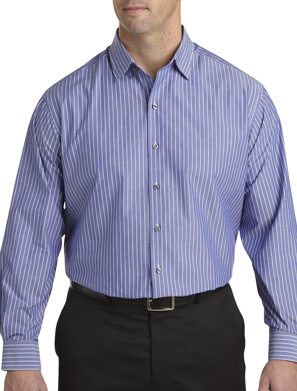 synrgy™ narrow stripe long-sleeve sport shirt