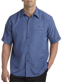 Synrgy® Microfiber Blue Mini Check Sport Shirt
