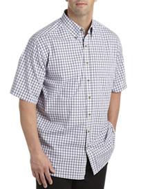 Harbor Bay® Easy-Care Small Multi Plaid Short-Sleeve Sport Shirt