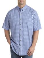 Harbor Bay® Easy-Care Small Check Short-Sleeve Sport Shirt