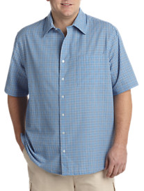 Harbor Bay® Seersucker Check Short-Sleeve Sport Shirt
