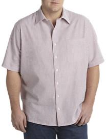 Harbor Bay® Seersucker Multi Stripe Short-Sleeve Sport Shirt