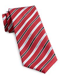 Geoffrey Beene® Textured Holiday Stripe Silk Tie