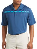adidas® Plaid Stripe Polo
