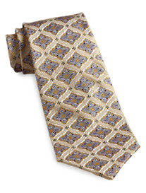 Gold Series™ Designed in Italy Textured Medallion Silk Tie