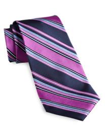 Gold Series Designed in Italy Stripe Silk Tie