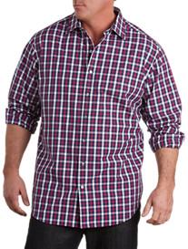 Synrgy® Long-Sleeve Multi Plaid Sport Shirt