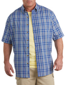 Harbor Bay® Short-Sleeve Easy-Care Plaid Sport Shirt