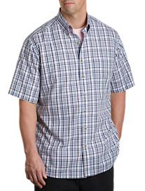 Harbor Bay® Short-Sleeve Easy-Care Medium Plaid Sport Shirt
