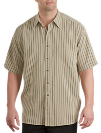 Harbor Bay® Microfiber Neutral Stripe Sport Shirt
