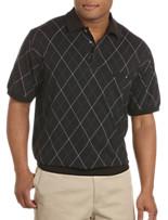 Harbor Bay® Argyle-Printed Banded Bottom Shirt