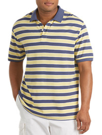Harbor Bay® Blue/Yellow Stripe Polo