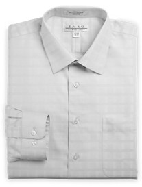 Enro® Non-Iron Oxford Textural Solid Dress Shirt