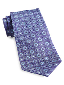 Gold Series™ Designed in Italy Floral Medallion Silk Tie