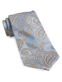 Gold Series Designed in Italy Paisley Silk Tie
