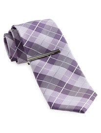 Gold Series Plaid Tie with Tie Bar