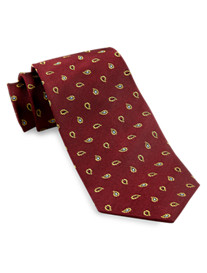 Gold Series Paisley Neat Silk Tie
