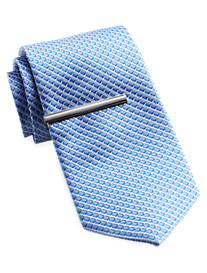 Gold Series Patterned Tie With Tie Bar