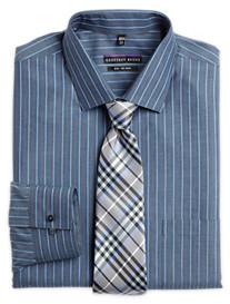 Geoffrey Beene® No-Iron Denim Stripe Dress Shirt