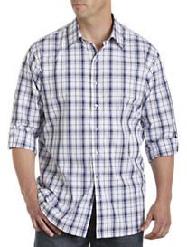 Synrgy® Medium Plaid Roll-Tab Sport Shirt