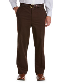 Gold Series Flat-Front Waist-Relaxer Performance Twill Pants