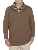 Oak Hill® Ribbed 1/4-Zip Mockneck Pullover