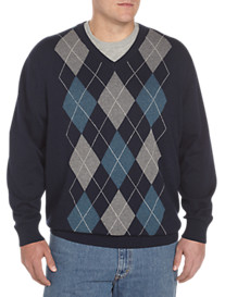 Harbor Bay® Argyle V-Neck Sweater