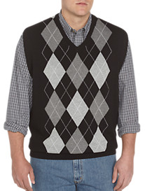Harbor Bay® Argyle V-Neck Vest
